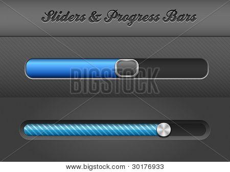 Web Design Elements: Slider Bars. EPS8 Vector Illustration
