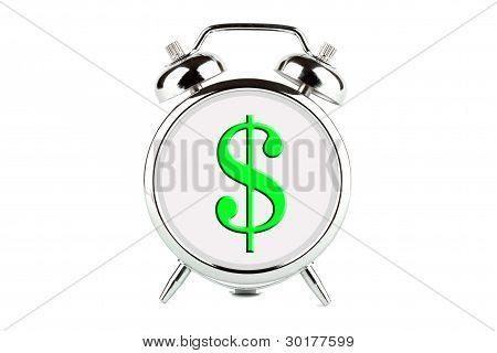 Dollar On A Alarm Clock