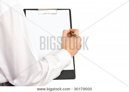 Businessman working with documents sign up contract