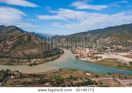 Panorana Of Mtskheta, Georgia