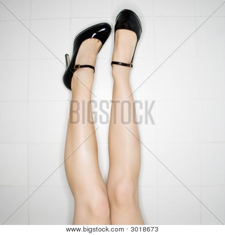 Legs With High Heels.