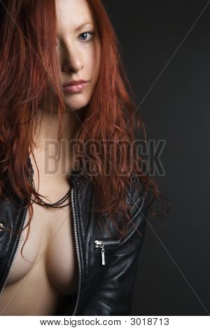 Redhead Woman Portrait.