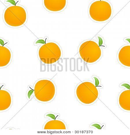 Oranges on white.  seamless background