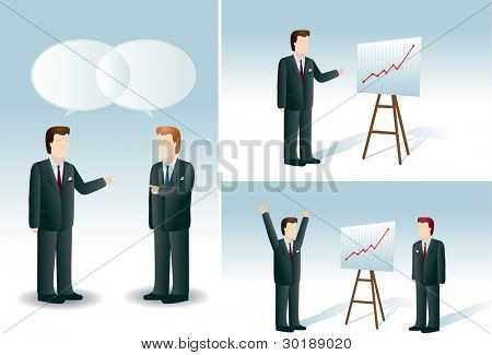 businessmen set. Copceptual business vector illustration set.