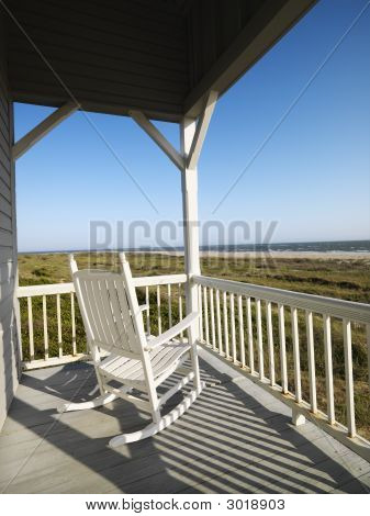 Porch At Beach.