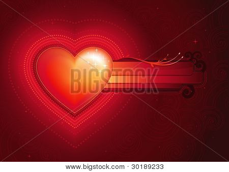 Vector Valentine's Day composition. All elements are layered separately. mesh used.
