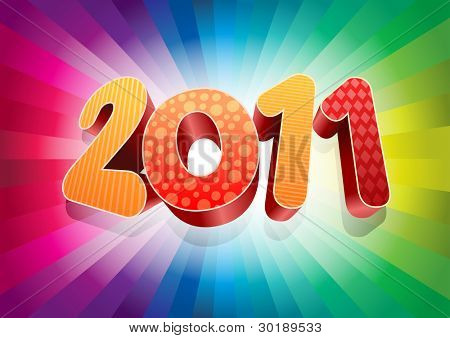 3d 2010 vector background. New year design element.