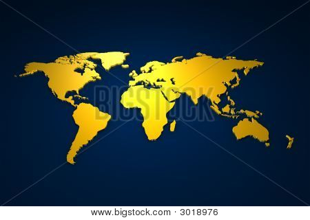 Golden Worldmap