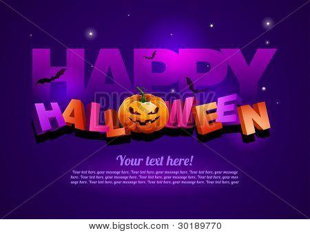 Happy Halloween-Plakat-Vorlage.  Alle Elemente sind einzeln Vektordatei geschichtet. EPS10