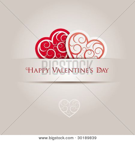 Valentine's Day Card. All elements are layered separately in vector file.