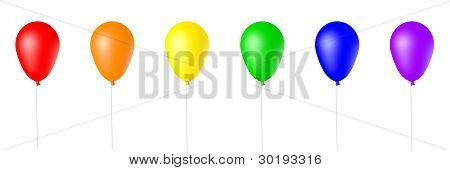 Isolated 3D Rendered Balloons