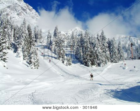 Skier On Winter Snow