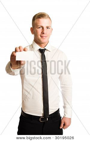 Young Smiling Businessman.