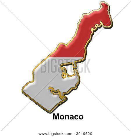 Monaco Metal Pin Badge