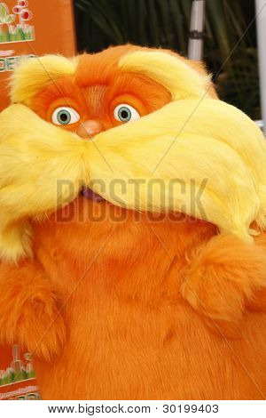 LOS ANGELES, CA - FEB 19: Lorax character at the 'Dr. Suess' The Lorax' premiere at Universal Studios Hollywood on February 19, 2012 in Los Angeles, California