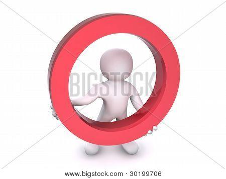 3D Human Red Circle