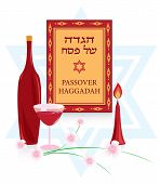 foto of seder  - congratulations to the Jewish holiday of Passover - JPG