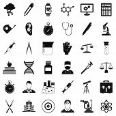 Lab Icons Set. Simple Style Of 36 Lab Icons For Web Isolated On White Background poster