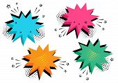 Colorful Set Of Comic Bubbles For Your Text. Comic Sound Effects In Pop Art Style. Sound Bubble Spee poster