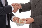 picture of pervert  - Two businessmen and paying money - JPG