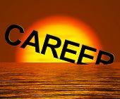 Постер, плакат: Карьера слово тонущий Показываю неисправного или потеряли перспективы получения работы