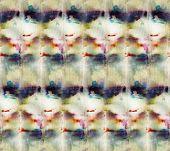 Seamless Tie-dye Pattern  On White Silk. Hand Painting Fabrics - Nodular Batik. Shibori Dyeing.3 poster
