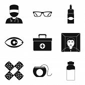 Therapist Icons Set. Simple Set Of 9 Therapist Icons For Web Isolated On White Background poster