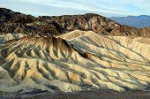 picture of sedimentation  - Zabriskie point in east of Death Valley in Death Valley National Park in the US - JPG
