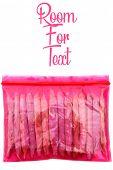 Medical Marijuana Joints. Recreational Marijuana Joints. Pink Plastic Bag of Marijuana Joints. isola poster