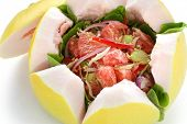stock photo of pomelo  - vietnamese pomelo salad - JPG