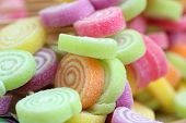 Colorful Candy Closeup Background. Colorful Candy Texture Background. Rainbow Candy Colors At Childr poster