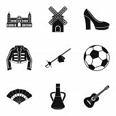 European Icons Set. Simple Set Of 9 European Icons For Web Isolated On White Background poster
