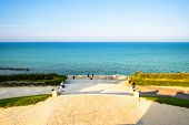 An image of a view from the monument to the fallen of Ancona, Italy poster