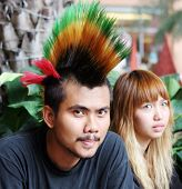 picture of mohawk  - Punk with bright multi - JPG