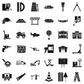 Shipping Land Icons Set. Simple Set Of 36 Shipping Land Icons For Web Isolated On White Background poster