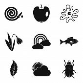 Garden Stuff Icons Set. Simple Set Of 9 Garden Stuff Icons For Web Isolated On White Background poster