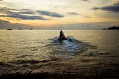 image of waverunner  - Waverunner Near The Beach In Thailand during sunset - JPG