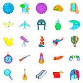 Exploration Icons Set. Cartoon Set Of 25 Exploration Icons For Web Isolated On White Background poster