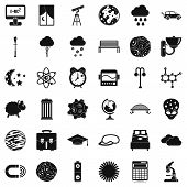 Universe Icons Set. Simple Set Of 36 Universe Icons For Web Isolated On White Background poster