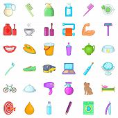 Next Day Icons Set. Cartoon Set Of 36 Next Day Icons For Web Isolated On White Background poster