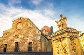 Basilica Di San Lorenzo Cappelle Medicee Chapel And Giovanni Delle Bande Nere Monument On Piazza Di  poster