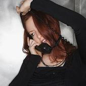 Woman On Telephone.