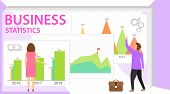 Business Statistics. Financial Administration Concept. Statistics And Business Statement. Consulting poster