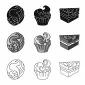 Vector Design Of Confectionery And Culinary Icon. Set Of Confectionery And Product Stock Symbol For  poster