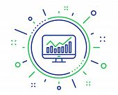 Statistics Line Icon. Data Analysis Sign. Business Strategy. Quality Design Elements. Technology Sta poster