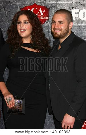 LOS ANGELES - DEC 10:  Hillary Scott and husband arrives to the American Country Awards 2012 at Mandalay Bay Resort and Casino on December 10, 2012 in Las Vegas, NV