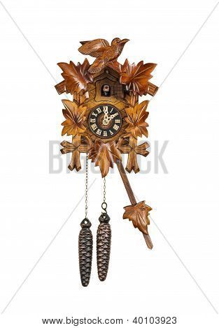 Traditional Cuckoo Clock Sounding On The Hour