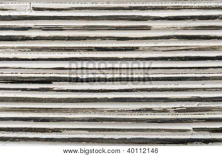 Closeup Black And White Striped Rattan Background