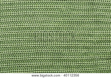 Close Up Green Knitted Pullover Background