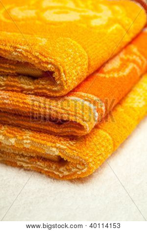 Orange and yellow Towels